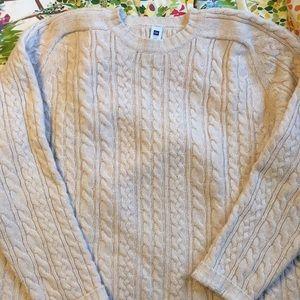 Gap 2x 3x wool fisherman sweater